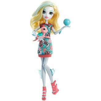Кукла Monster High Лагуна Блю базовая с питомцем 2016