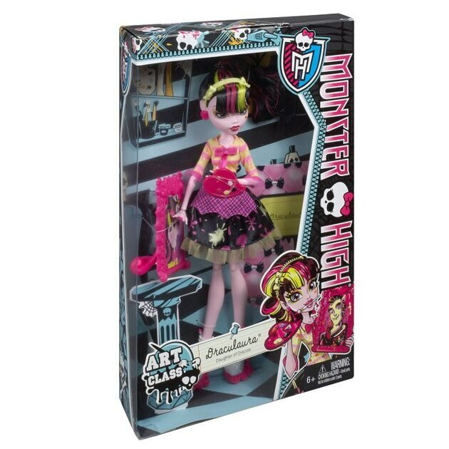 Кукла Monster High Дракулаура Арт класс
