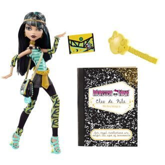 Кукла Monster High Клео де Нил базовая с сумками