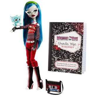 Кукла Monster High Гулия Йелпс Базовая с питомцем